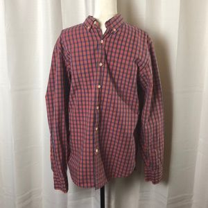 J. Crew Tailored Fit Plaid Button Down